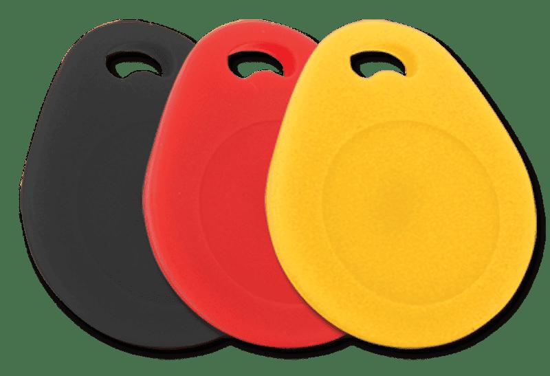 Chaveiro de Proximidade Keyfob Black, Red & Yellow